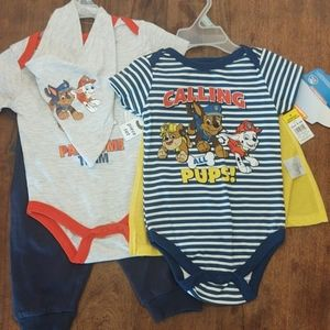 Baby Boy 2-outfit Lot / Paw Patrol